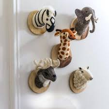 animal heads on wall stunning felt animal heads on wooden mount animal gifts for stuffed animal heads on wall