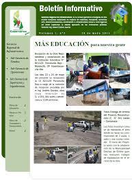 Formatos De Boletines Informativos Boletin Informativo Gobierno Regional Cajamarca