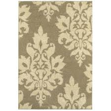 home decorators collection meadow damask neutral 8 ft x 10 ft area rug