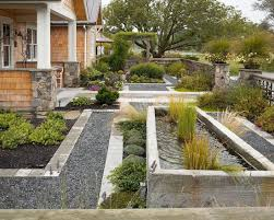 nice-front-yards-landscaping-with-natural-stone-fences-. no grass ...