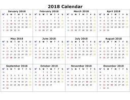 2018 printable calendar word 2018 calendar printable