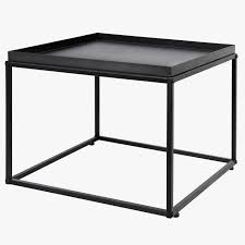 round coffee table mygift inch modern black metal square tray side of amazing soho second
