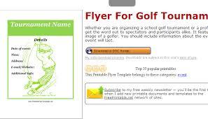 5 Free Golf Tournament Flyer Templates Af Templates
