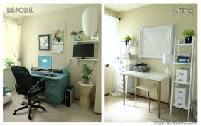Apartment Home office creative workspace makeover before and after The  Decor Guru