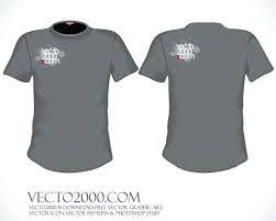 Men T Shirt Template Free Vector Illustrator Adobe