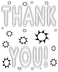 Thank You Coloring Sheet Wallpaper Download