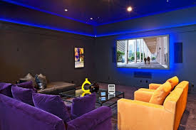 home theater lighting ideas. home theater ideas colorful lighting and furniture g