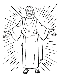 Wondrous Ideas Coloring Page Of Jesus Christ Pages Idig Me Being