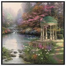 the garden of prayer 36 x 36 framed canvas