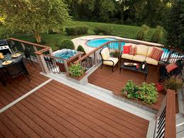 above ground pool with deck attached to house. Patio Flair Above Ground Pool With Deck Attached To House 5