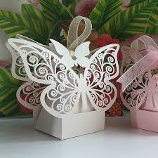 Decorative Bags And Boxes 100 New Wedding Favor Laser Cut Wedding Candy Boxes Gift Bags Diy 2