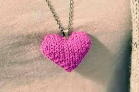 Knitted Heart Pattern New Ravelry Heart Puff Necklace Pattern By Lauren Riker
