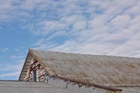 rusty metal roof