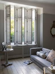 sitting room white shutters