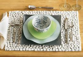 White Beach Stone Placemats