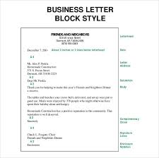 Block Letter Sample Business Letter Sample Full Block Format Free Downloadable