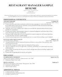 Restaurant Waiter Resume Resume For Restaurant Waitress Waiter Beauteous Waiter Resume