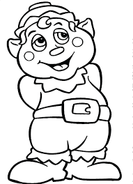 Awesome Cartoon Elf Coloring Pages Design Printable Coloring Sheet