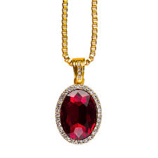 lab made hiphop ruby pendant designs jewelry necklace