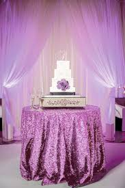 lavender sequin tablecloth for 5ft round table sparkly sequined table overlay for purple wedding cake table events bridal shower decor