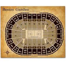 Td Garden Celtics Seat Chart Boston Garden Basketball Seating Chart 11x14 Unframed Art Print Great Sports Bar Decor And Gift Under 15 For Celtics Fans