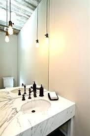 vanity pendant lights bathroom hanging over spectacular lighting home new york city