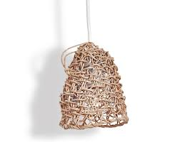 woven recycled paper pendant gardenista