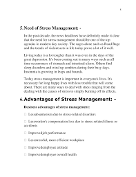 stress management report 7 65 need of stress management