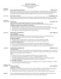 Hbs Mba Resume Sample Free Resume
