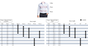 Standard Fit Size Chart Van Heusen Fit Guide Size Chart Van Heusen Australia