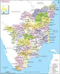 Tamil Nadu Map State District Information And Facts