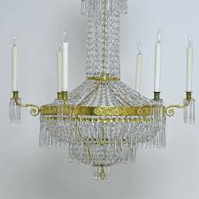empire crystal chandelier a fine century or early antique with style empire crystal chandelier