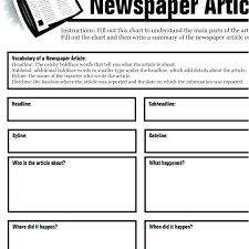 Newspaper Story Template Free Article Writing Template Online Review Templates Download