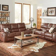 brown leather living room furniture. Picture Of Waylon Brown Reclining Sofa \u0026 Console Loveseat Leather Living Room Furniture R