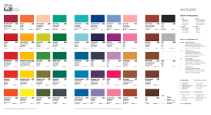 The free printable color charts listed below can help you find find html color codes for your website easily. Caliart Color Chart Page 1 Line 17qq Com