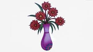 How To Draw A Vase With Designs How To Draw Flower Vase Step By Step Draw Vase Easy