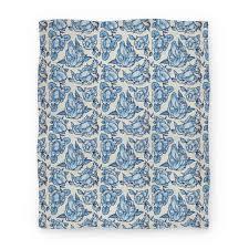 Patterned Blankets Custom Floral Penis Pattern Blanket Blue Blanket LookHUMAN
