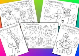 Curious George Birthday Party Coloring Pages Activity By Vsstudio