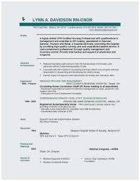 Rn Resume Template Free