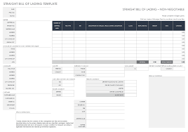 Bill Of Lading Template Excel Free Templatesmartsheet