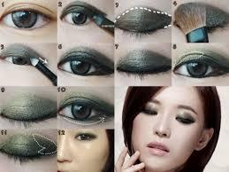 asian eyeonolid moss smoky eye makeup