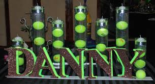tennis themed bar mitzvah candle lighting display party perfect boca raton fl 1