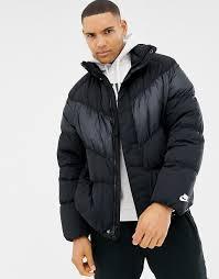 nike down chevron panel jacket