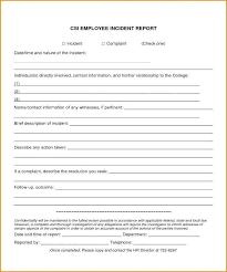 Workplace Incident Report Form Template Jovemaprendiz Club