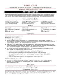 Creative Director Resumes Fresh Sample Resume For A Midlevel Art