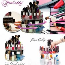 glam caddy cosmetic make up rotating organizer storage