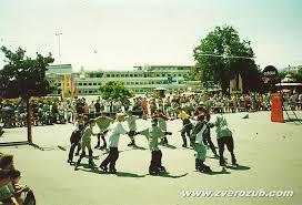 Подвижные игры и эстафеты на асфальте для детей и взрослых  показательные выступления команды Скворечник в 1997 году в Ялте акция адидас стритбол