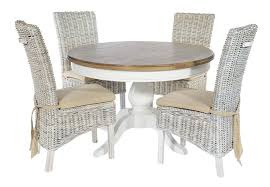 lulworth round dining table 4 rattan chairs