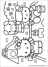 The cat hello kitty belongs to breed of the japanese bobtail, she is a female individual. Hello Kitty Coloring Pages Free For Kids