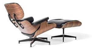Eames Chair With Ottoman Style Lounge Chair And Ottoman Black Leather Walnut Wood Replica